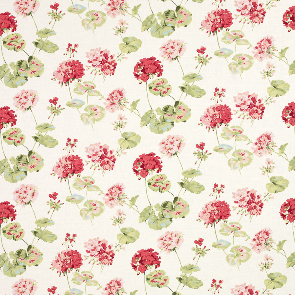 Geranium Cranberry Fabric Laura Ashley