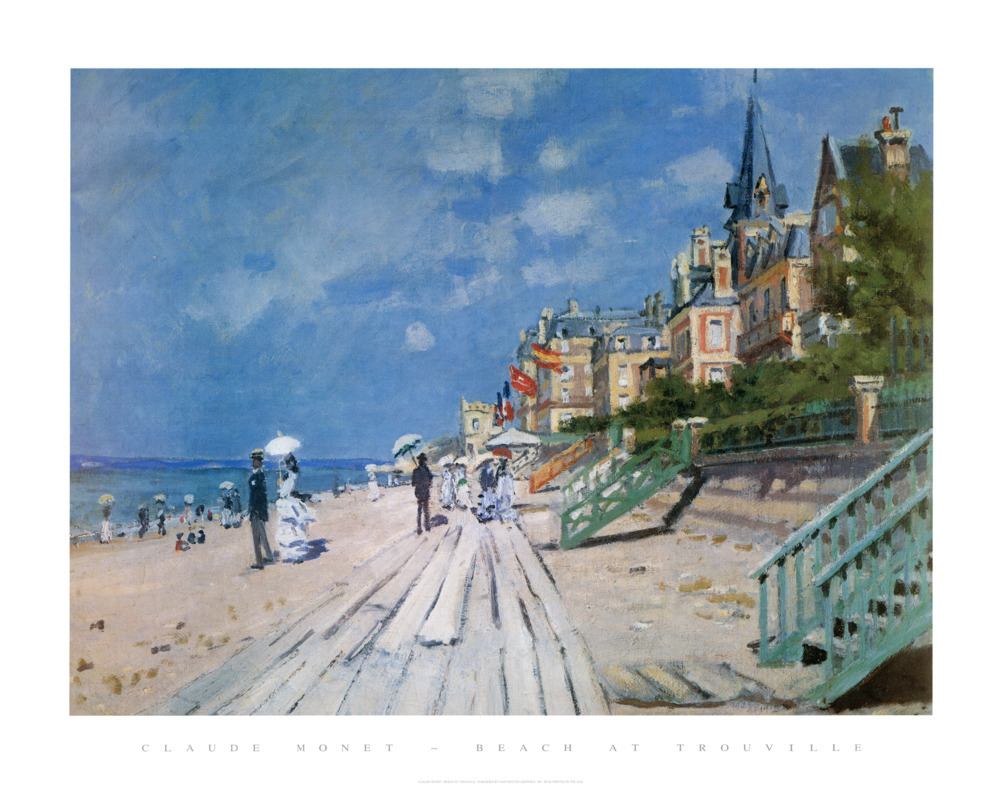 Beach at Trouville - domino prints